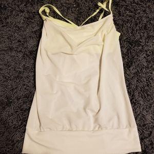 White workout tank
